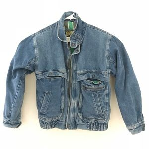 VTG Denim Moto bomber jacket